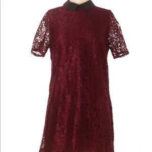 Forever 21 Burgundy Lace Cocktail Dress M